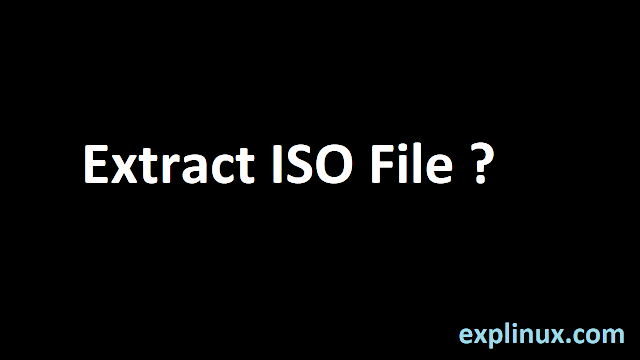Extract ISO File