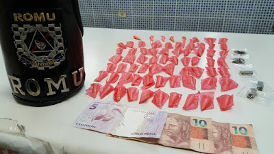 ROMU Jandira - Flagrante de tráfico de drogas 05/05/2017