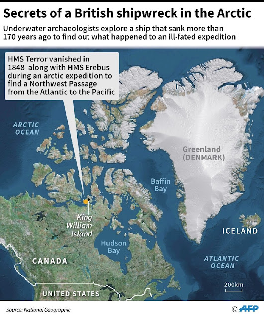 Το ναυάγιο HMS Terror προσφέρει μυστικά της χαμένης αρκτικής αποστολής