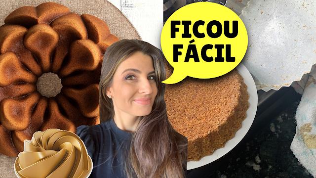 Unte seu tabuleiro do bolo com desmoldante caseiro: BOLOS desenformados perfeitos!