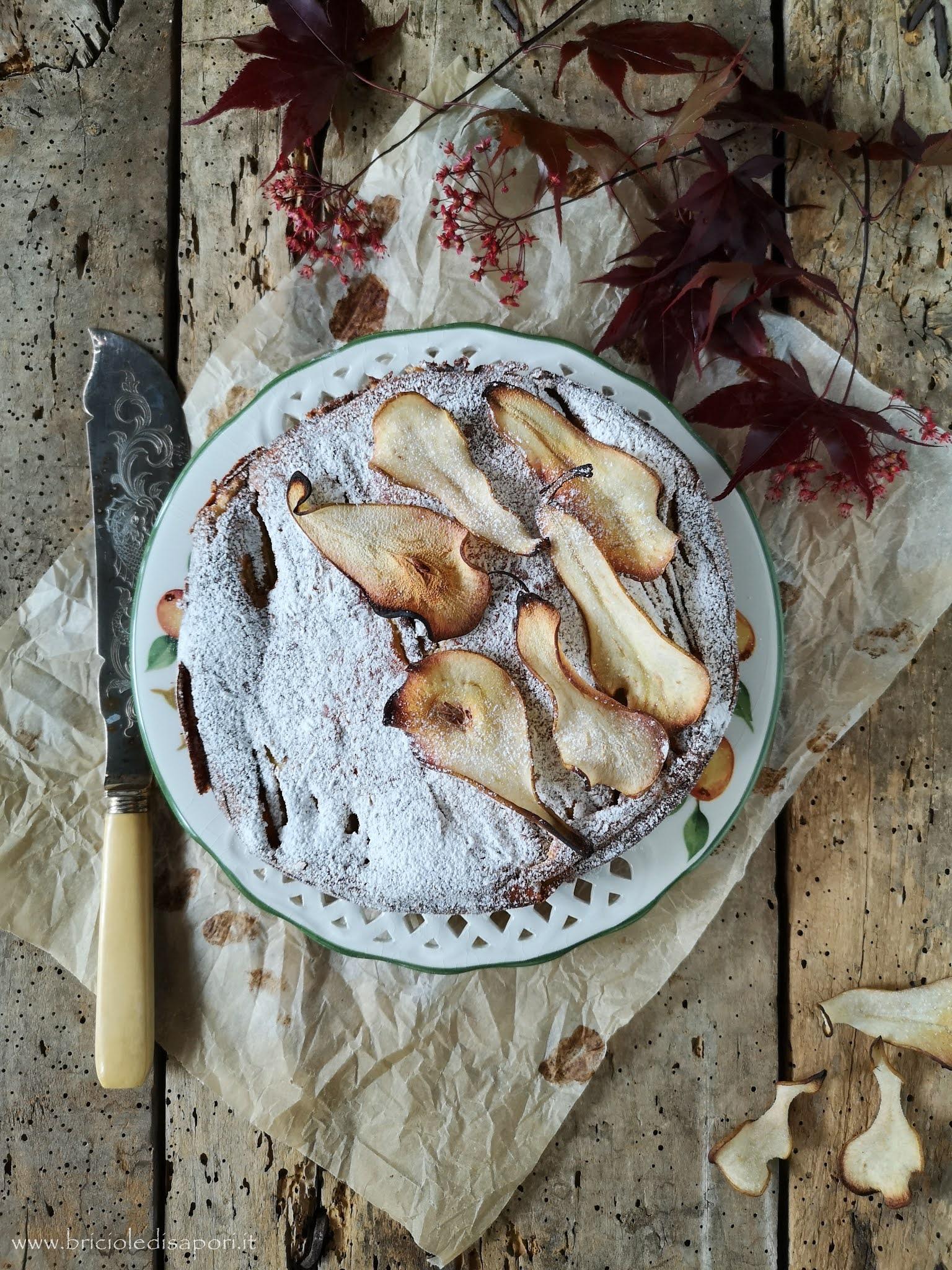 cheesecake tiepida con pere e robiola