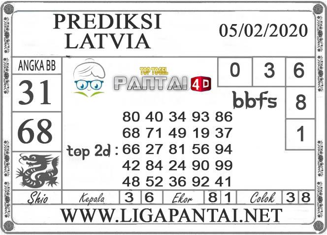 PREDIKSI TOGEL LATVIA PANTAI4D 05 FEBRUARI 2020
