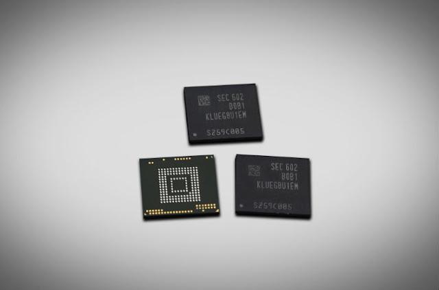 Samsung Memperkenalkan Chip Penyimpanan 256GB Untuk Smartphones