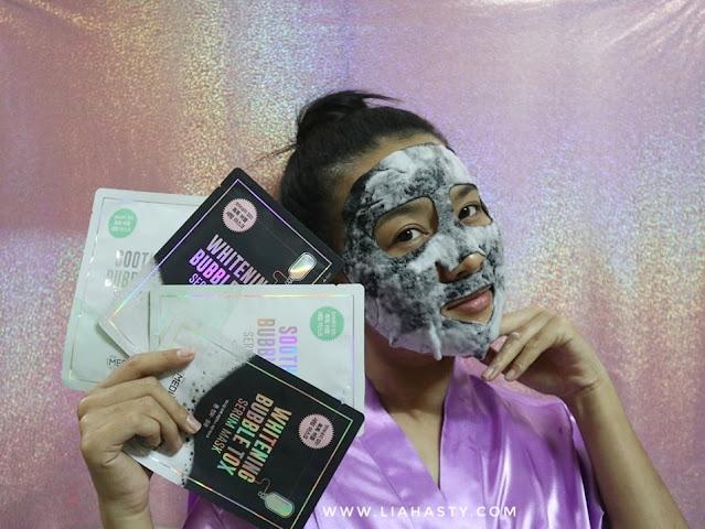 Bubble Sheet Mask dari Mediheal Whitening & Soothing Bubble Tox Serum
