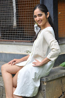 Radhika Cute Young New Actress in White Long Transparent Kurta ~  Exclusive Celebrities Galleries 021.JPG