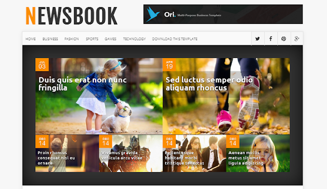 News Book Responsive Blogger Template