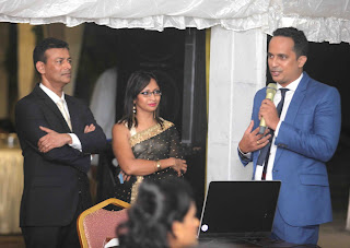 Dr. Shamintha Amaratunga (Chairman & Managing Director, Radiant Eye Hospital) & Nadee Gunawardena, (Director, Radiant Eye Hospital) look on as Andrew Evan (Founder, The Human Company – responsible for the website and branding of Radiant Eye) guides the audience through the website.