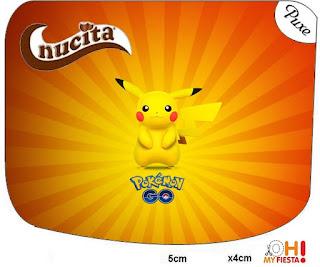 Etiqueta Nucita de Pikachu para imprimir gratis.