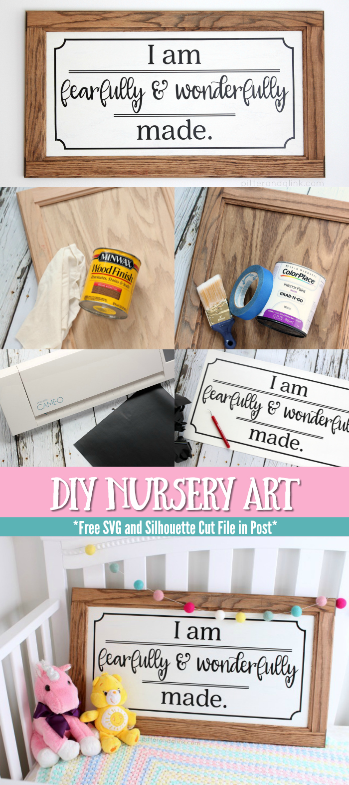 Easy DIY Nursery Art | Create inexpensive nursery art from a cabinet door