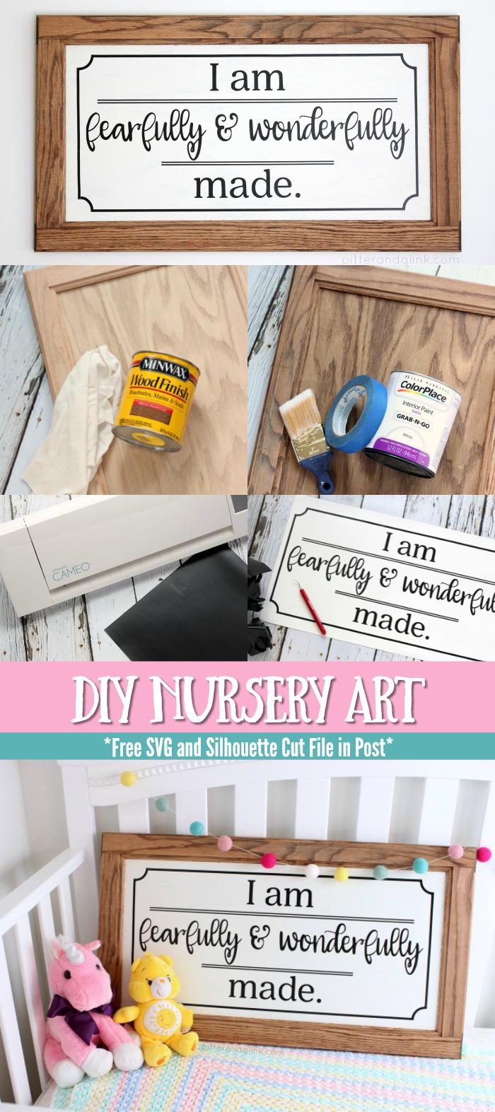 Easy DIY Nursery Art | Create inexpensive nursery art from a cabinet door
