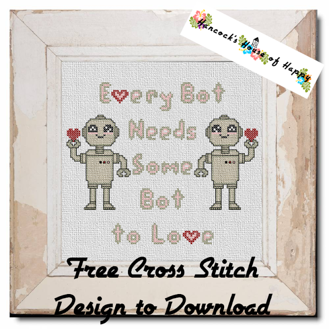 Kawaii Robot Cross Stitch Pattern Free to Download