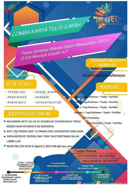 Lomba Karya Tulis Ilmiah Youth Economics Competition (YEC 2.0)