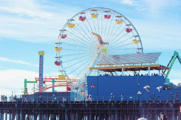 aimerose travel blog santa monica pier