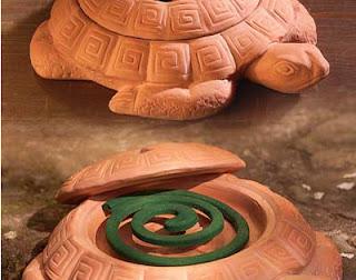 Terracotta turtle with mosquito repellant