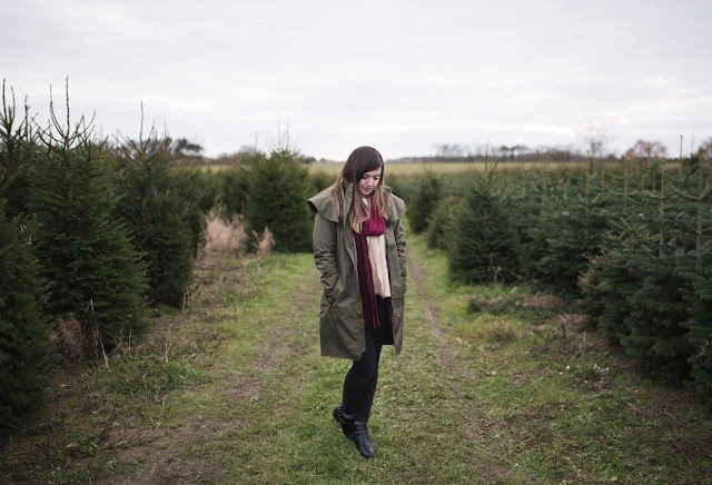 Picking our Christmas Tree with Lighthouse Clothing