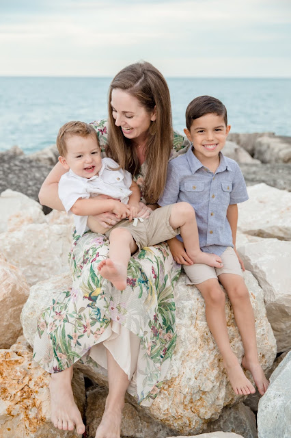 Jewelry Artist Alessa Gurrola and her sons.
