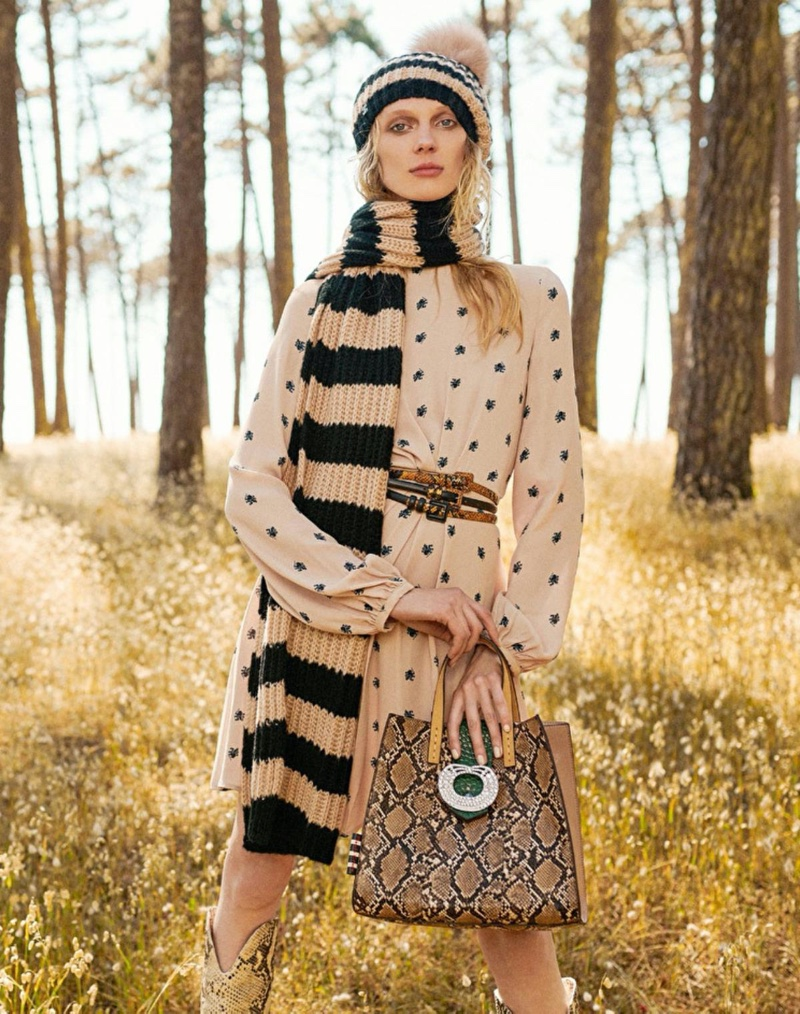 Olga Sherer fronts Manila Grace fall-winter 2019 campaign