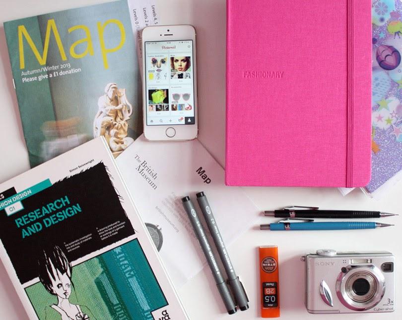 fashion design research sketchbook