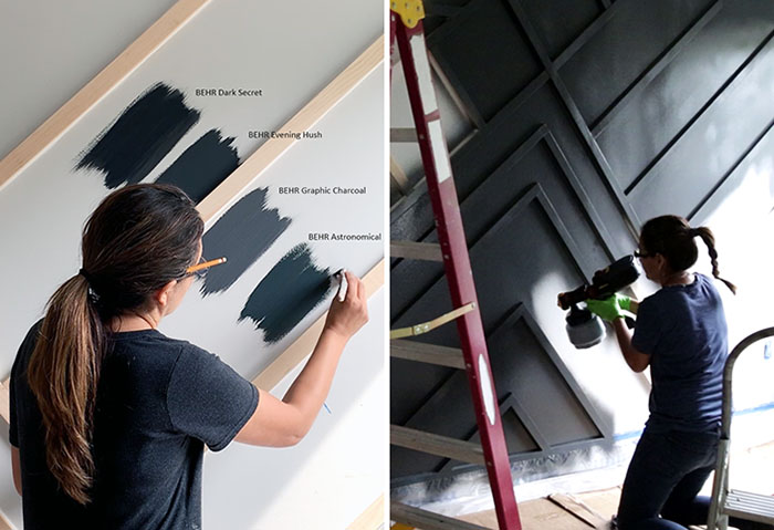 #homedepotpaint - Choosing a dark, moody color to paint an accent wall