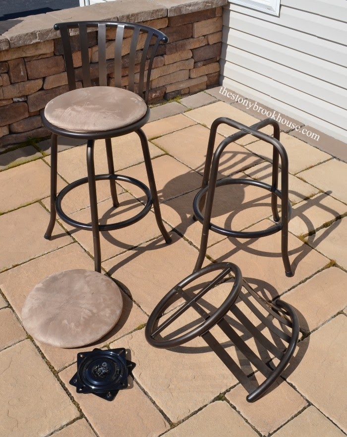 Barstools disassembled