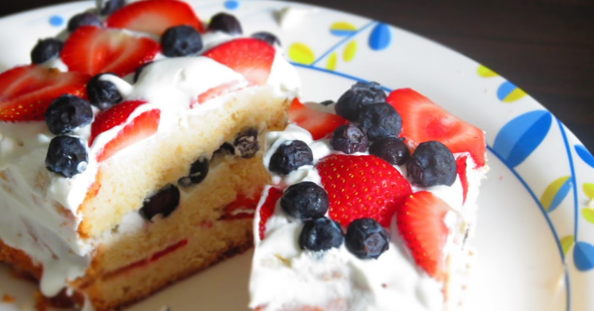 mittu cooking love: Fresh Fruit Cake with Homemade Whipped ...
