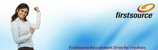 First Source Walkin Interview for Freshers On 1st to 5th November 2016
