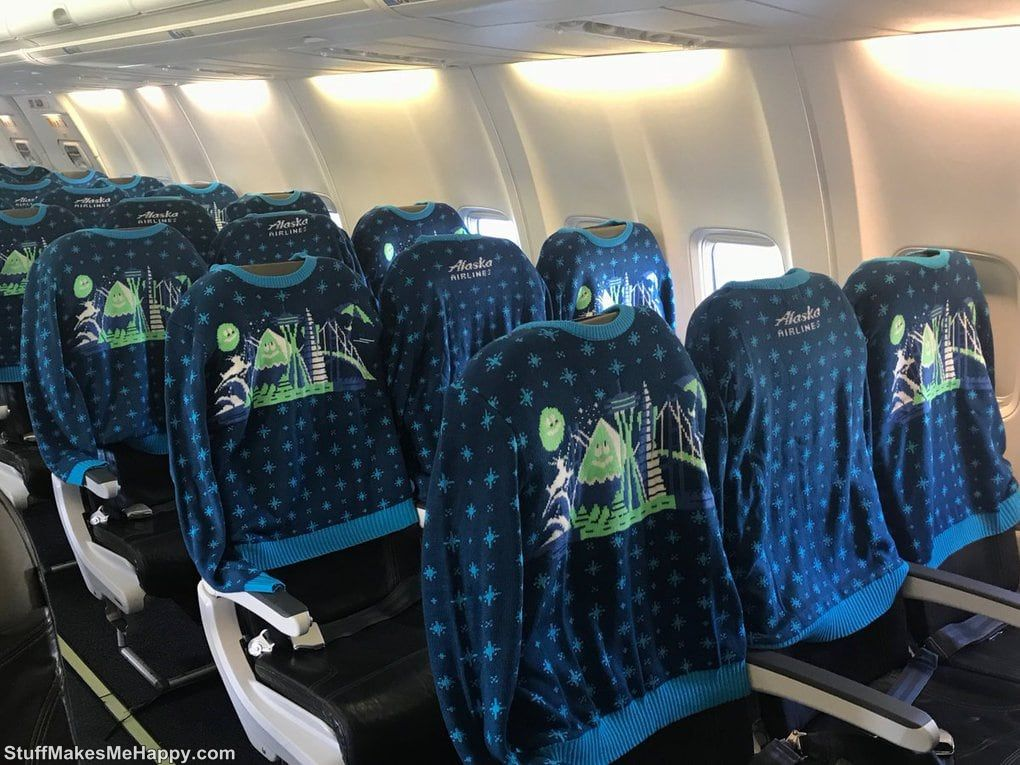 2. But how to decorate the interior of one of its passenger aircraft company Alaska Airlines