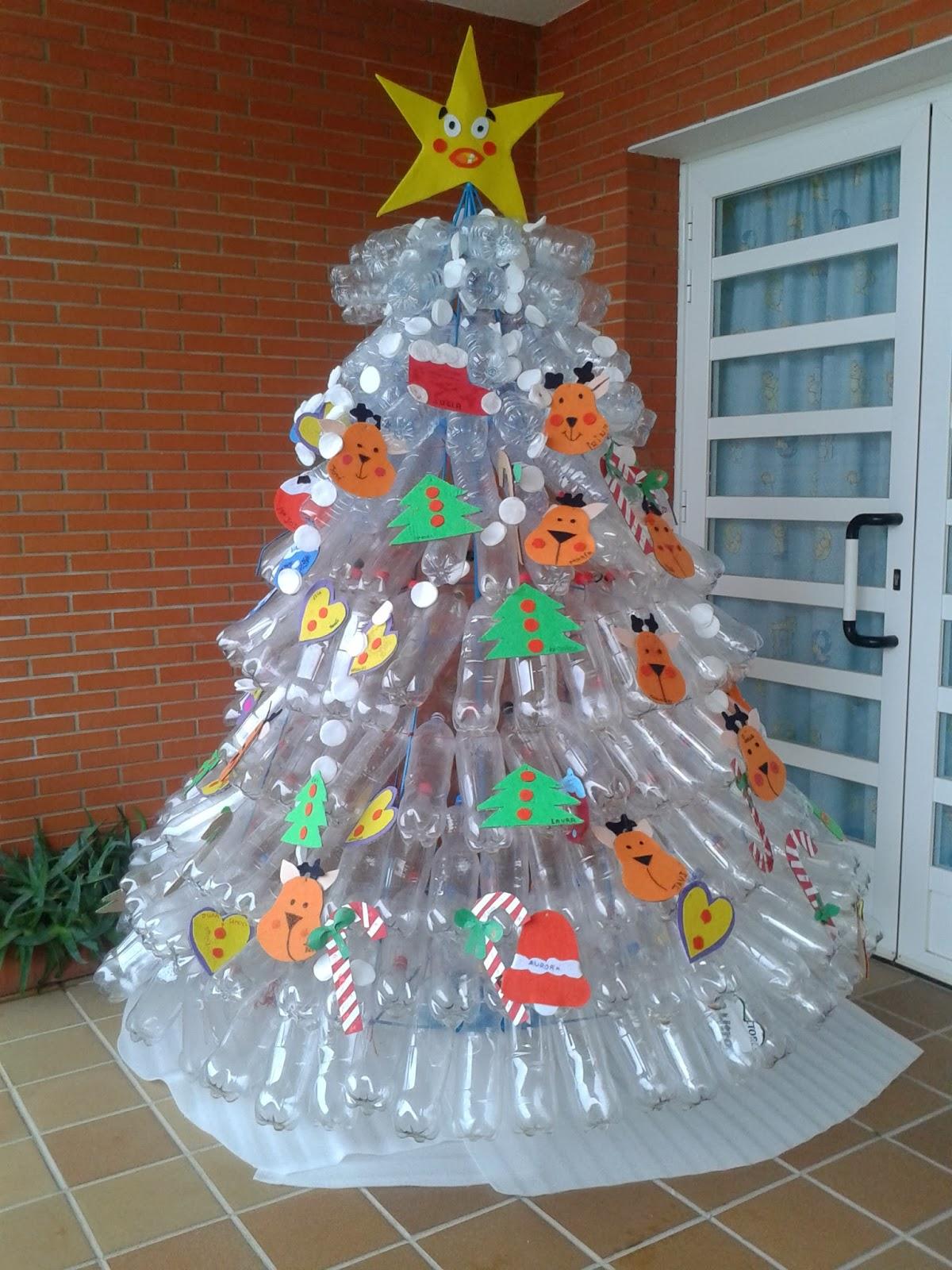 Josanprimariaef rbol de navidad reciclado - Arboles de navidad decorados 2017 ...
