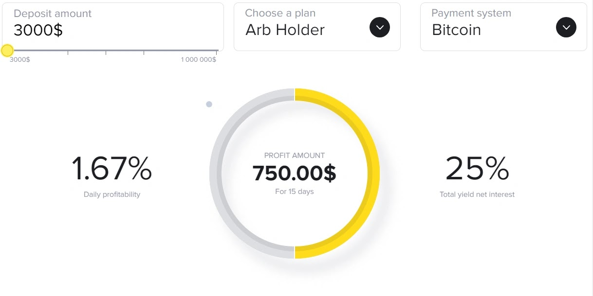 Инвестиционные планы Crypto-ARB 3