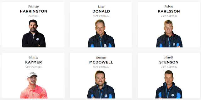 Ryder Cup 2020 Team Europe Captains