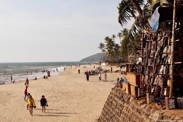Anjuna Flea Market Beach, Goa, Intia