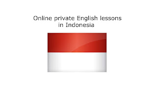 Online private English lessons in Indonesia