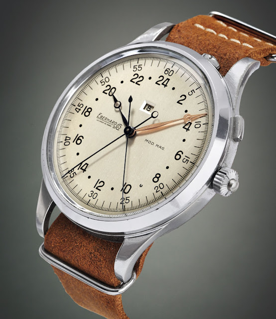 "Eberhard ""Sistema Magini"" split-seconds monopusher chronograph"