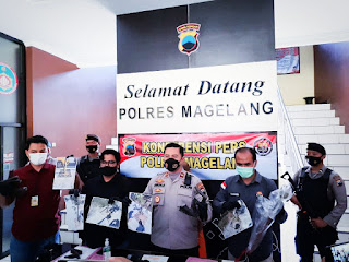 Polres Magelang Ungkap Residivis Mencurian 179 Besi Trees Grate Jalan KSPN Borobudur