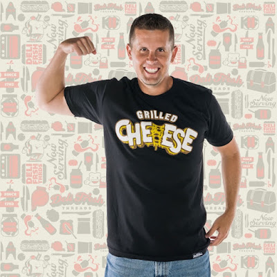 Grilled Cheese Sandwich T-Shirt by Deli Fresh Threads