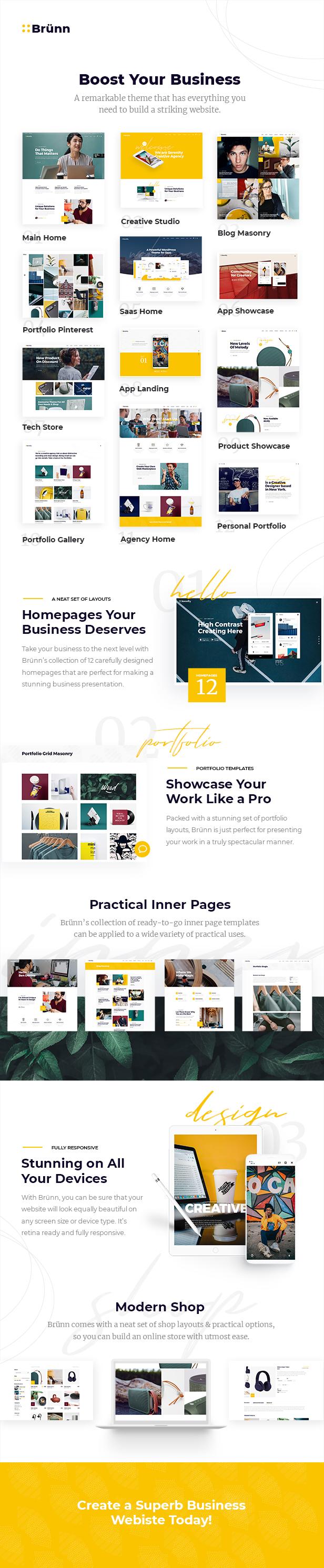 Brünn Wordpress Creative Agency Theme Review