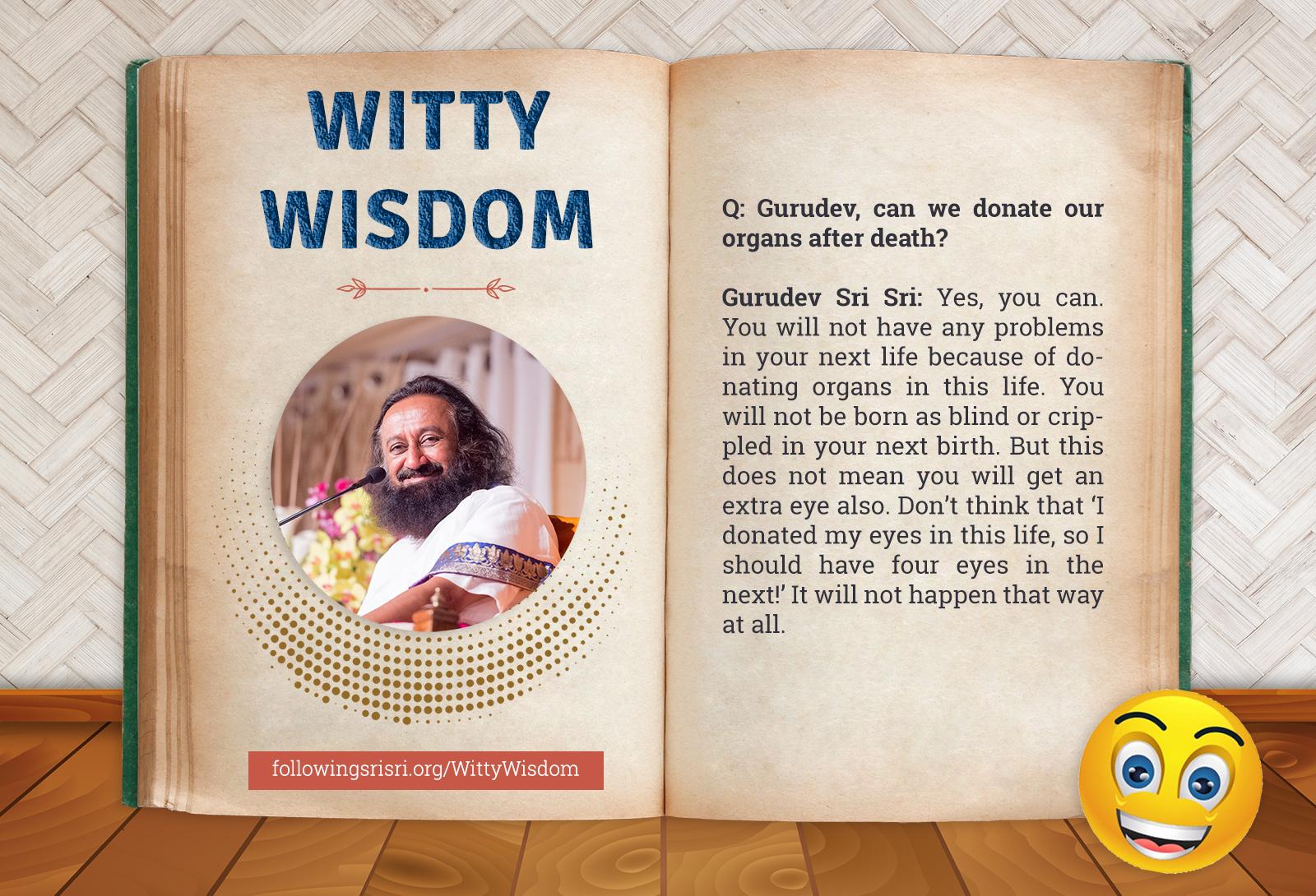 Donating Organs | Witty Wisdom