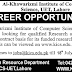 Al-Khawarizmi Institute of Computer Science UET Lahore Jobs