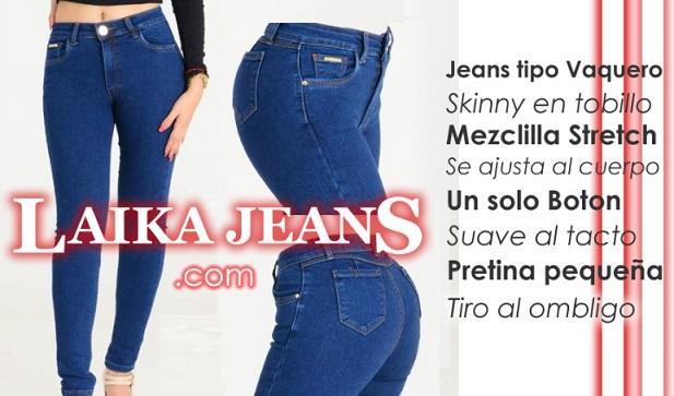 Laika Jeans de Moda en Mezclilla Stretch de Mayoreo