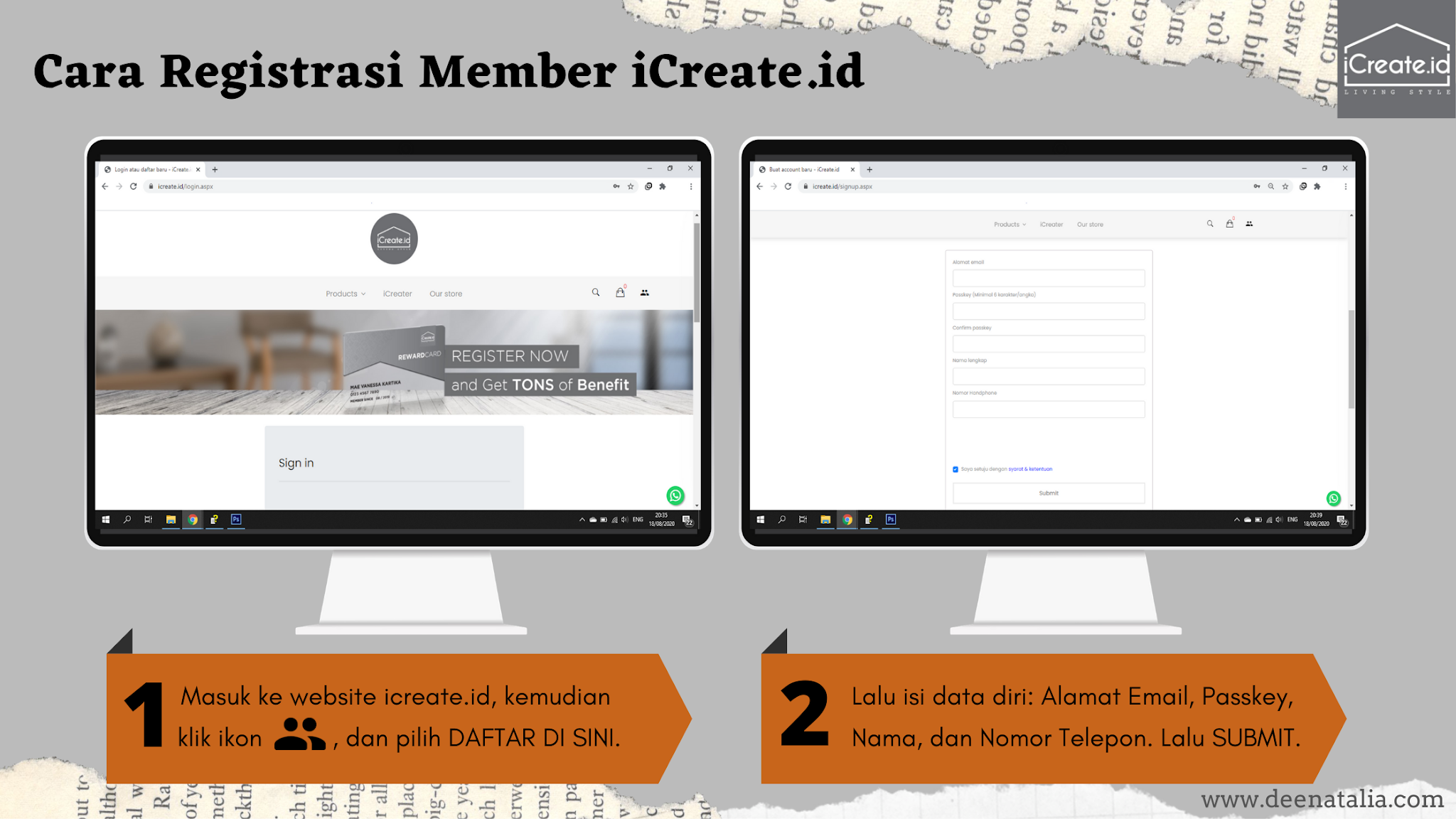 registrasi member iCreate.id