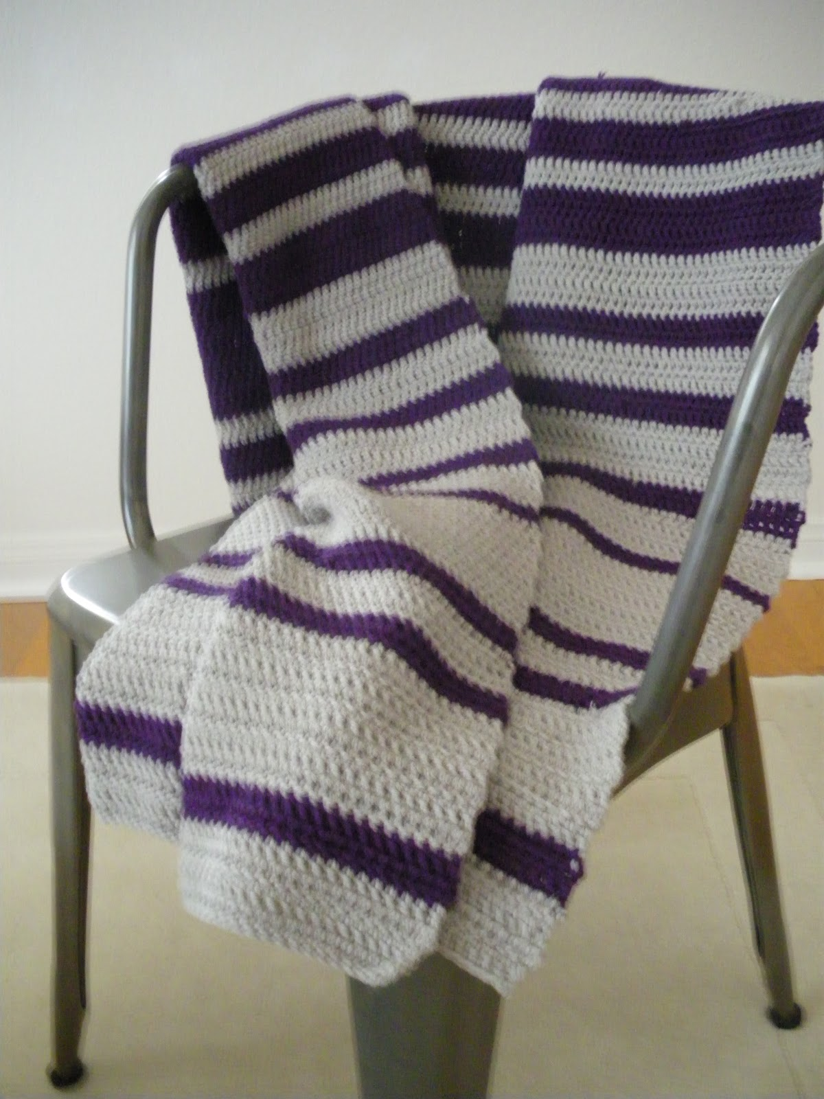 The Scarf And Stripe Striped Crochet Blanket