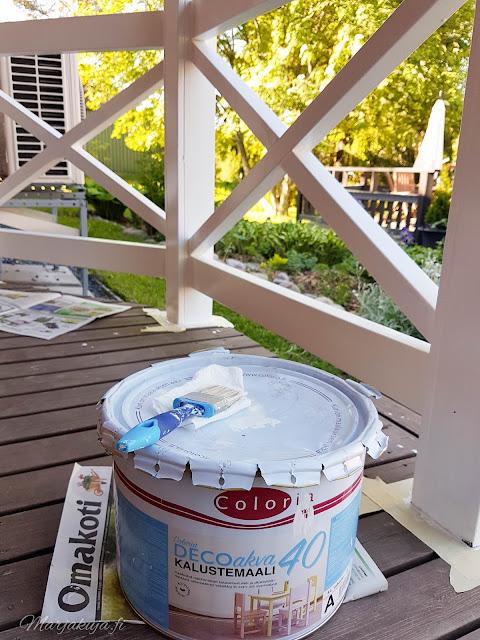 puuöljy coloria terassi maali kaiteet kalustemaali öljyäminen homepesu pohjuste musta terassi ruskea terassi
