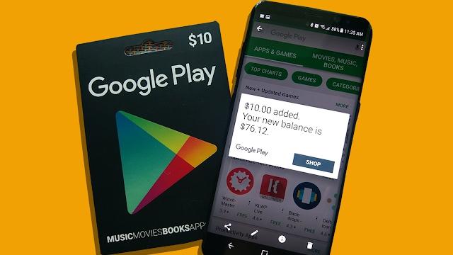 بطاقات جوجل بلاي مجانا سنة 2020