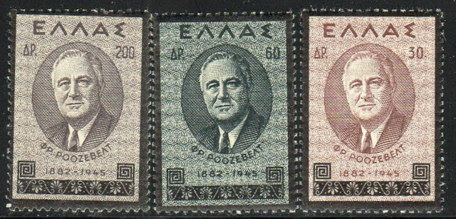 Greece Franklin Roosevelt Memorial issue