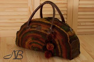 Осенне-зимняя сумочка в этническом стиле. Полушерсть и кожа