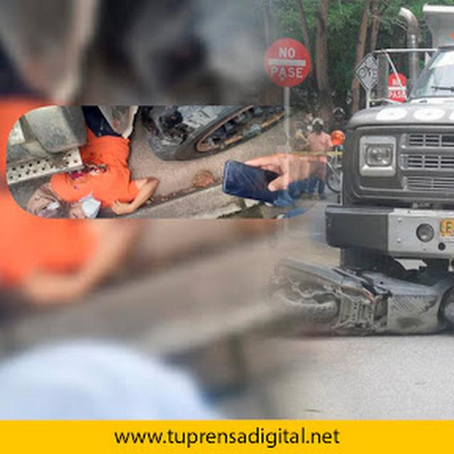 Lamentable, facturadora de Hospital San Jerónimo falleció arrollada por una volqueta en Montería