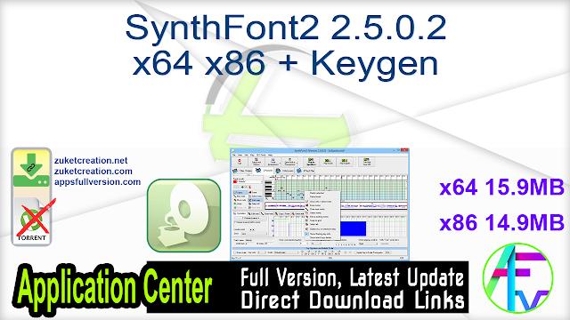 SynthFont2 2.5.0.2 x64 x86 + Keygen