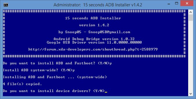 15 Seconds ADB Installer / Best ADB Installer