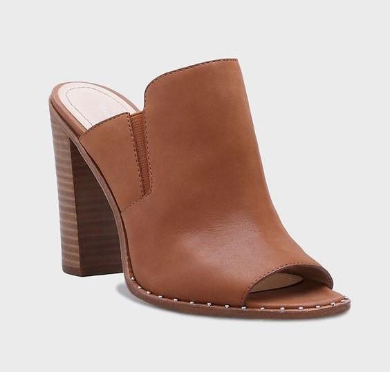 Pour La Victoire Geo Studded Mule Sandal