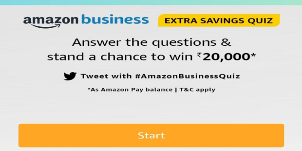 Amazon Extra Saving Quiz Answers & Win Rs. 20,000 Pay Balance